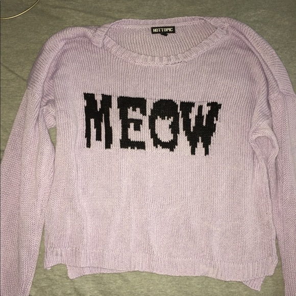 Hot Topic Sweaters Purple Meow Girls Sweater Poshmark
